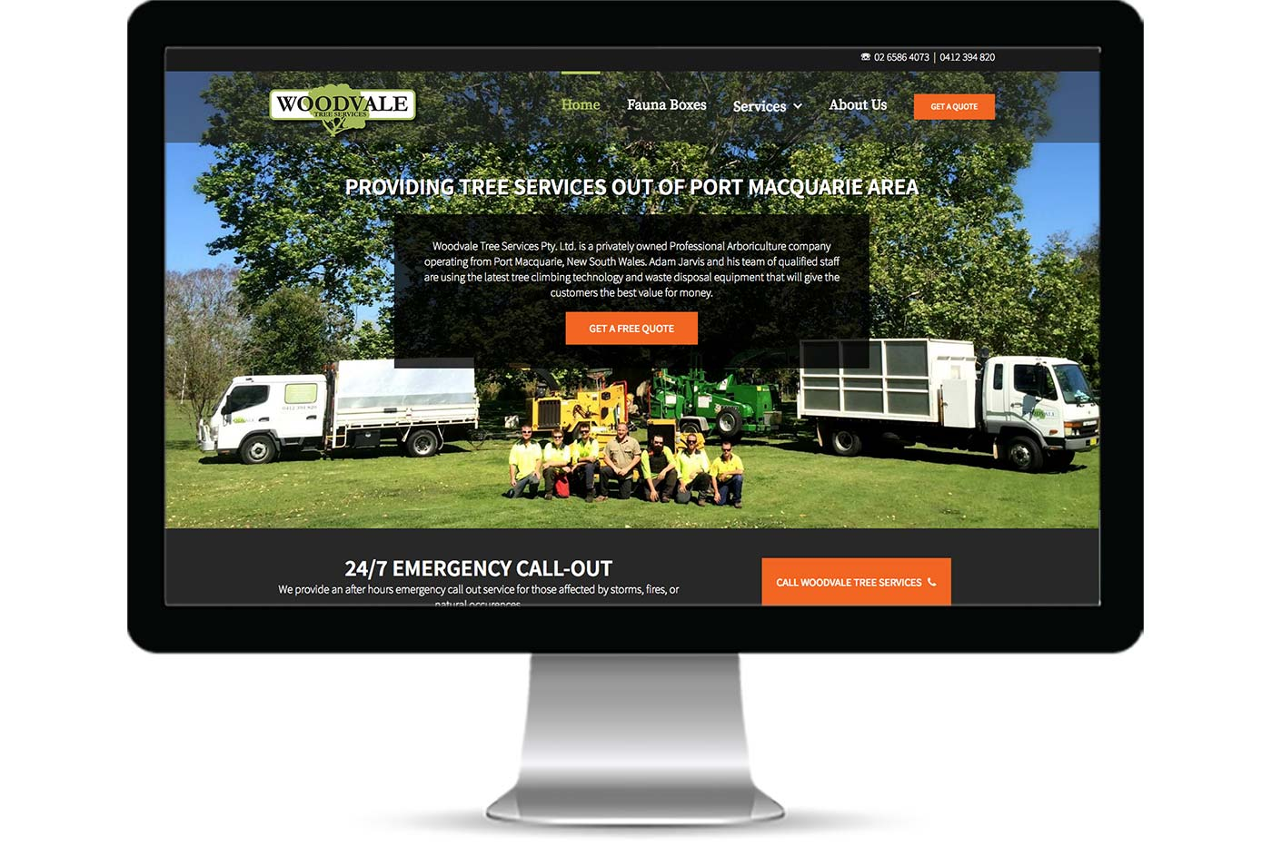 Advantage iT Solutions Web Portfolio - Woodvale Tree Services
