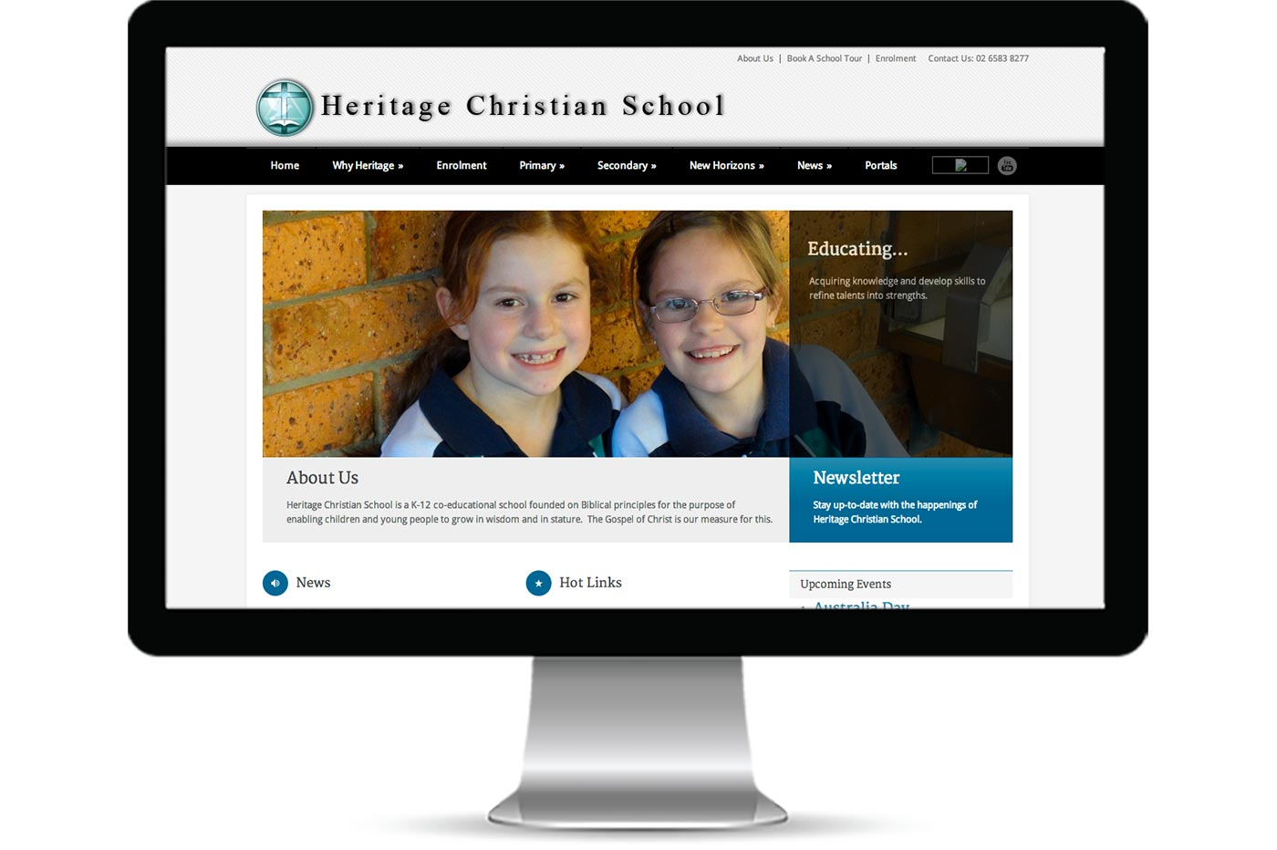 Advantage iT Solutions Web Portfolio - Heritage Christian School