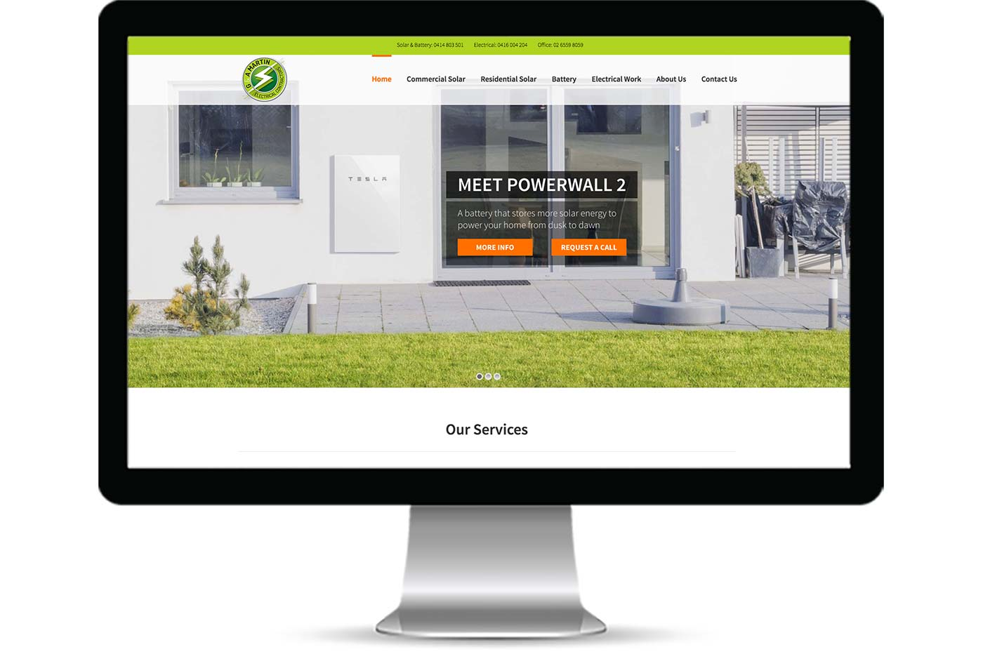 Advantage iT Solutions Web Portfolio - G & A Martin Electrical Contractors