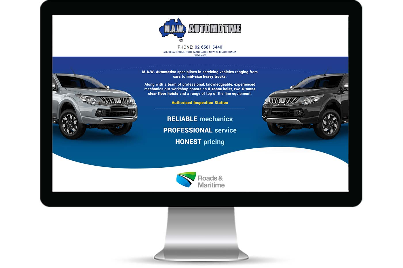 Advantage iT Solutions Web Portfolio - M.A.W. Automotive
