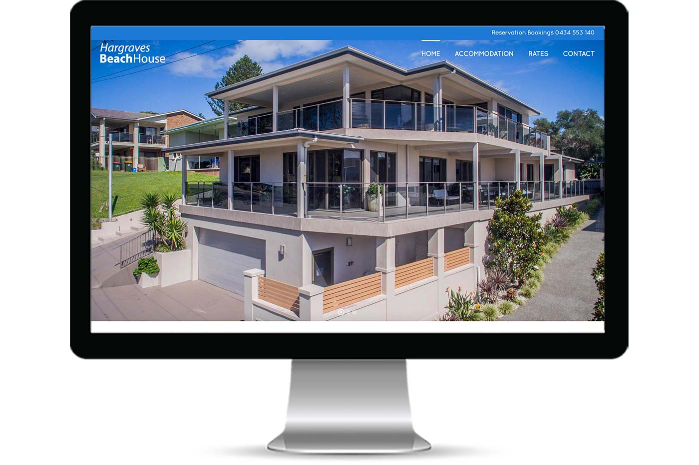 Advantage iT Solutions Web Portfolio - Hargraves Beach House